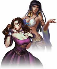 壮絶大航海-Age of Discovery-_美しい女海賊 紫ドレスの女 アラビアン風の女
