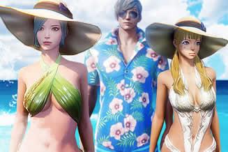 イカロスオンライン、真夏のログインミッション開催!セクシーな水着アバターも登場!