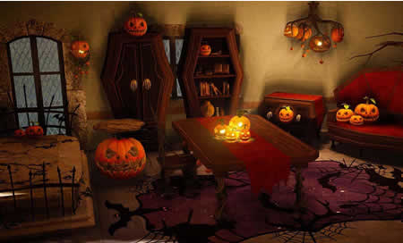 黒い砂漠_ハロウィン家具セット