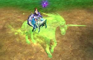 パーフェクト ワールド -完美世界-_緑色に光る神秘的な騎乗ペット「森の子供」