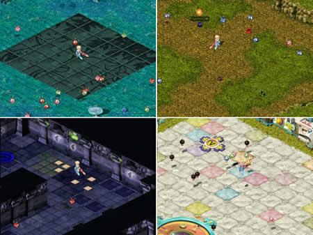 テイルズウィーバー_ミニゲーム、パズルDEピース、カラフル☆レスキュー、あっち!?こっち!?パネル、るんるんバルーン♪