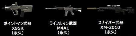 A.V.A_訓練兵→上等兵でもらえる武器
