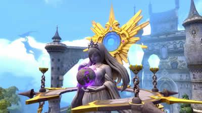 ドラゴンネスト_ほほえみかける大きな女神像に癒される…