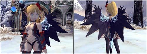 ドラゴンネスト_部位(翼)に装備するアバターアイテム、漆黒ノ翼