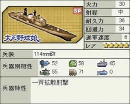 大戦略WEB、大正野球娘。Type42 マンチェスター