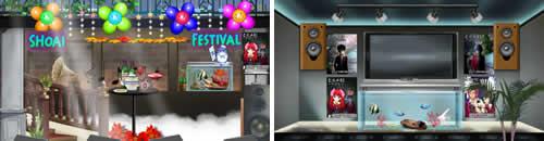 キャラフレ_学園祭イベント、2013翔愛祭、出展風景