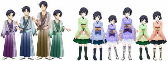 キャラフレ_【桜童子/男子】3点セット・全4色 【桜夢姫/女子】5点セット・全4色