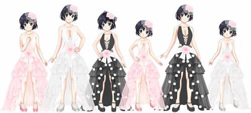 キャラフレ_【桜ふわりドレス/女子】3点セット・全3色