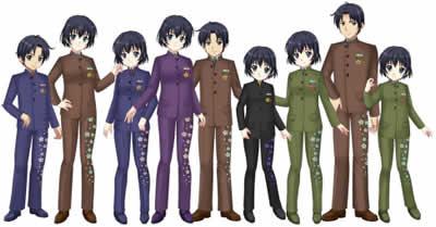 キャラフレ_【桜のステッチスーツ/男女共通】3点セット・全5色