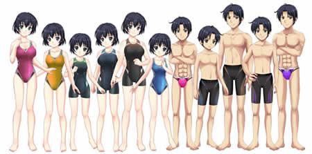 キャラフレ_「2014年モデル競泳用水着」