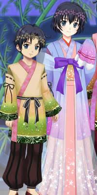 キャラフレ_七夕くじショップで彦星、織姫をイメージしたコスチュームが登場します