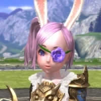 TERA、 薔薇の眼帯(パープル)