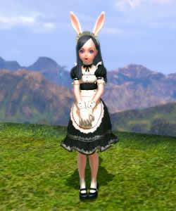 TERA、エリーンメイド服(クラシック)&白いメイドカチューシャ