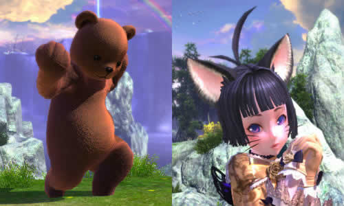 TERA、きぐるみクマ&ネコのヒゲ