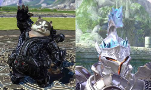 TERA、ムフラックブラックラベルの服騎士の兜(銀)