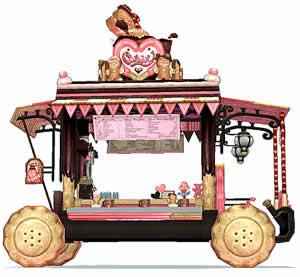 マビノギ_新規ペットカード「シェフのお菓子な屋台(色選択)カード」