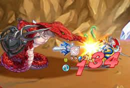 剣と魔法のログレス_「砂漠の遺跡」新エネミーとの戦闘