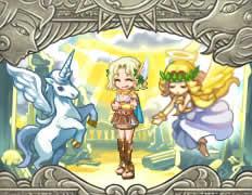 剣と魔法のログレス_「神々の大地」「レリーフ」「ペガサス」「天使の祝福」