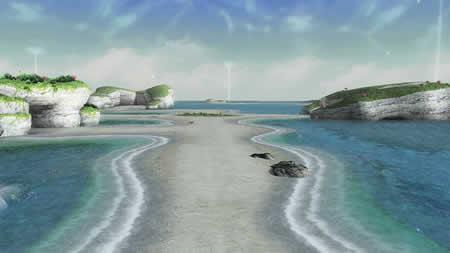 PSO2_水の豊富な惑星「ウォパル」は、まさかの空にも水!