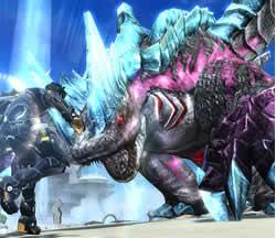 PSO2_「オルグブラン」の武器は爪だけでなく、地中からの強襲もある