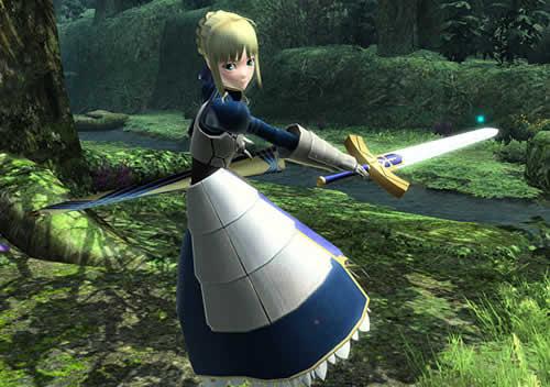 PSO2_コラボアイテムセイバー「騎士王の甲冑」「セイバーアップスタイル」「*約束された勝利の剣」
