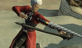 PSO2_コラボアイテムアーチャー「赤原礼装」「*偽・螺旋剣」