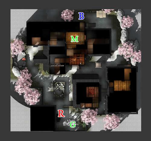 スペシャルフォース2、「旅館」俯瞰図