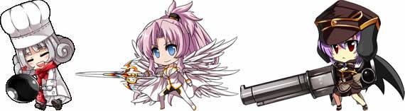 燐光のレムリア_「アクシアの箱」から入手できるキャラクター_左から「カリス」・「10星ナディア(インペリアル)」・「ルキノ」