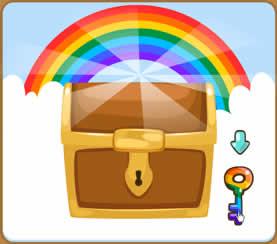虹色どうぶつ園、受け取り方法、表示されたウィンドウの虹色のカギをクリック