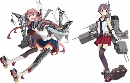 艦隊これくしょん〜艦これ〜_工作艦「明石」、軽巡洋艦「酒匂」