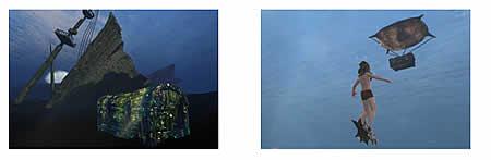 アーキエイジ_海の底に眠る宝箱のサルベージ風景