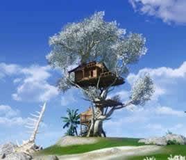 アーキエイジ_木の上の住居「ツリーハウス」