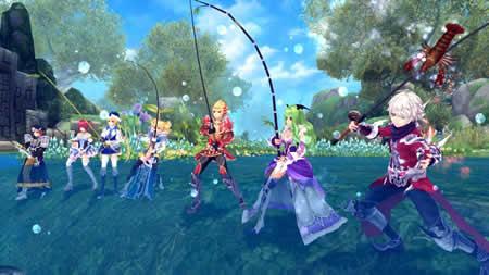 幻想神域 -Innocent World-_釣りプレイイメージ