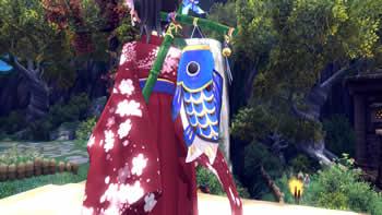 幻想神域_限定アバター「菖蒲の鯉のぼり」