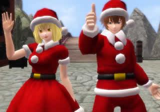鬼斬_クリスマスイベント報酬アイテム「さんたコスチューム」