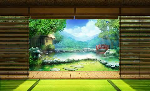 刀剣乱舞-ONLINE-_揺れる風鈴が涼しげな新景趣「夏の庭」