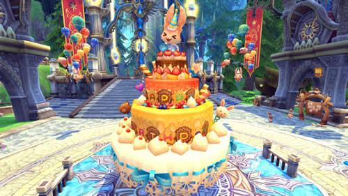 都市パーラシアに巨大なアニバーサリーケーキが登場!