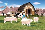 マビノギ_羊に囲まれて